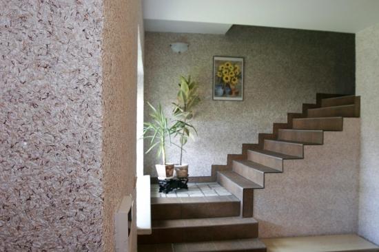 Interior casa amenajat cu tapet lichid