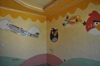 Pereti camera copii amenajati cu tapet lichid