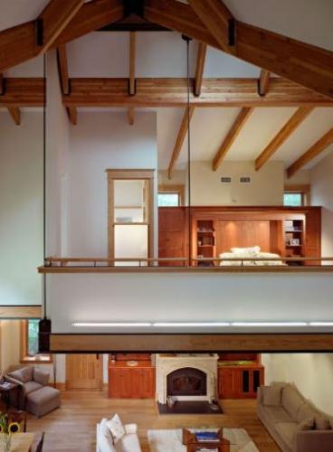 Dormitor de tip loft adica suspendat