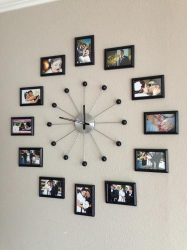 Colaj foto ceas de perete