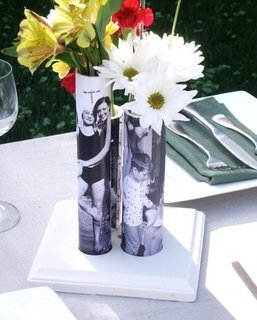 Vaza PVC imprimata digital cu fotografie de familie