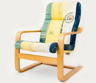 Fotoliu ergonomic pe structura din lemn