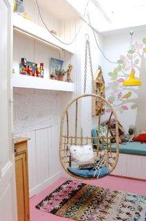 Camera copii fotoliu balansoar impletit suspendat de tavan