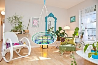 Fotoliu Papasan suspendat de tavan interior living eclectic