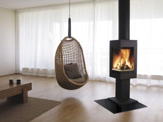 Living stil minimalist fotoliu balansoar impletit suspendat de tavan