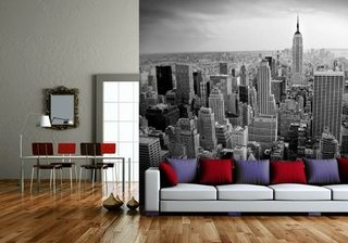Fototapet decorativ pentru pereti cu perspectiva for City themed bedroom designs