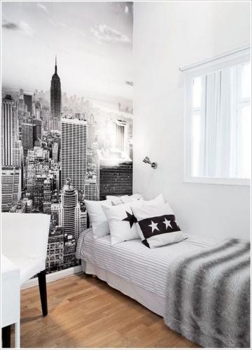 Dormitor mic cu pat de o persoana
