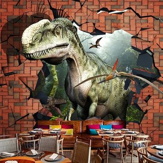 Fototapet decorativ 3 D Jurassic Park decor restaurant
