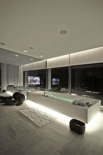 Design futurist pentru o baie spatioasa