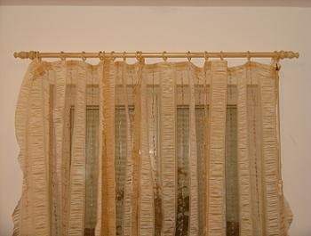 Galerie lemn perdele sufragerie gata
