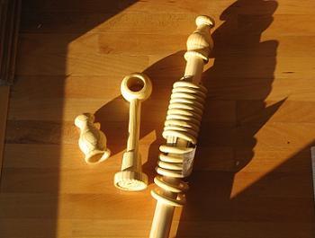 Galerie din lemn pentru perdele de sufragerie
