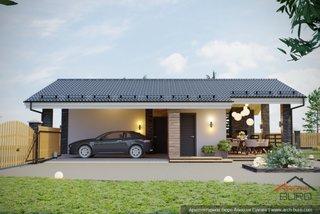 Cladire garaj cu terasa