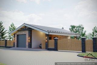 Constructie garaj cu camara si terasa
