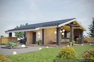 Constructie garaj cu terasa