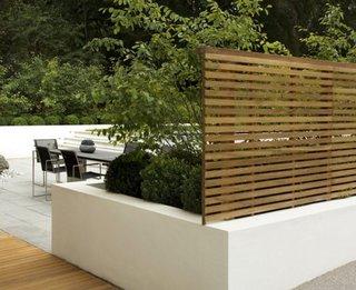 Panou din lemn pentru delimitare terasa