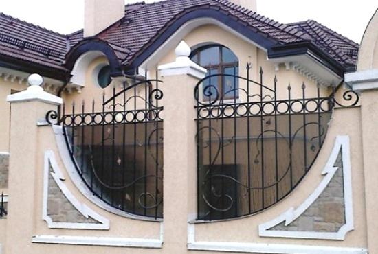 Gard din beton si fier forjat