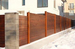 Gard din lemn modern