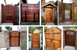 Modele frumoase de porti din lemn