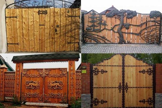 Modele porti din lemn pentru curte