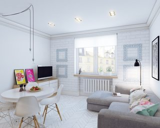 Amenajare in stil scandinav modern a unui apartament de 25 de mp