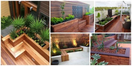 14 ghivece construite din lemn sau ciment - pentru gradini cu flori minunate