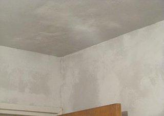 Aplicarea gletului pe tavan finisata