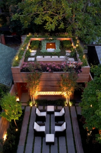 Gradina pe acoperisul casei