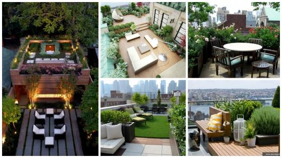 Gradina de pe acoperisul blocului sau casei - 14 idei in imagini