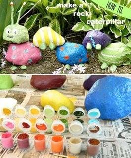 Cum faci o omida din pietre colorate pentru decorarea gradinii