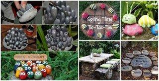 Idei decorare gradina cu roci si pietre