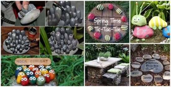 Gradini fabuloase decorate cu pietre - 30 de idei