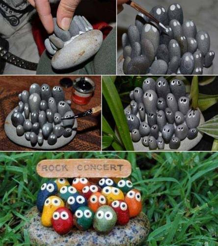 Ornament din pietre colorate pentru gradina