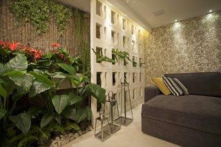 Living cu perete cu gradini verticale