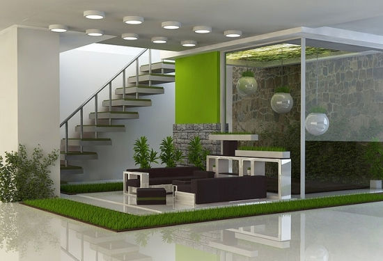 Model proiectare 3D gradina interioara