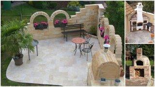 Modele gratare zidite din caramida pentru curte si gradina