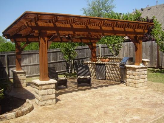 Bucatarie de vara cu gratar electric pentru gradina