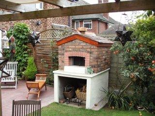 Gratar pentru gradina zidit si placat cu caramida