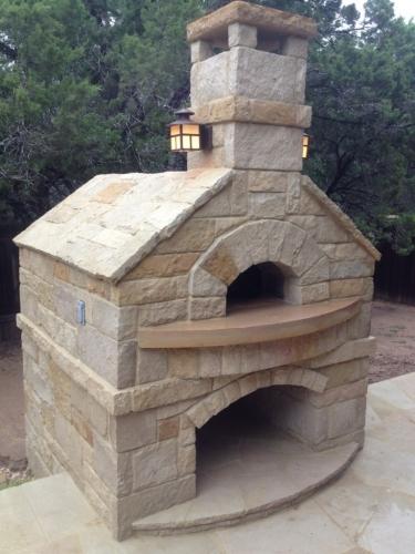 Model rustic de gratar de gradina cu piatra