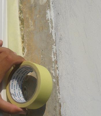 Protejarea tamplariei PVC cu banda adeziva de hartie