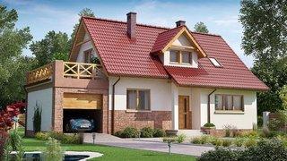 Casa cu terasa deasupra garajul varianta 2