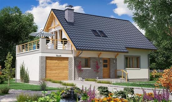 Proiecte de casa cu terasa la etaj