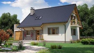 Casa placata la exterior cu klinker gri