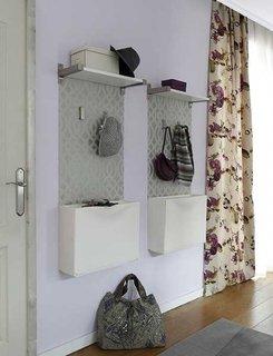 Cuier si dulap pentru pantofi suspendate pe perete