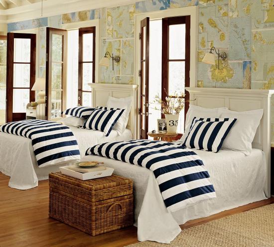 Dormitor decorat in stil Loft