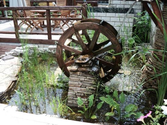 Idei decor rustic pentru iaz de gradina
