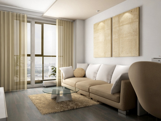 Amenajare sufragerie bloc cu perete cu fereastra si usa de la balcon