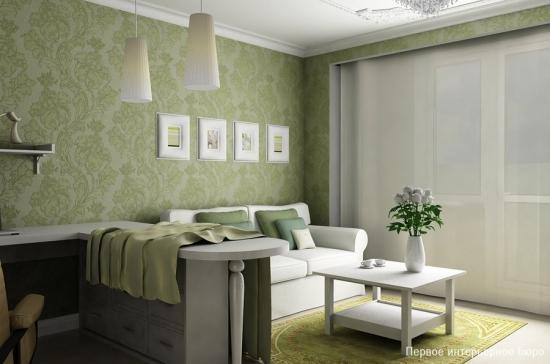 Birou in forma de L asezat in living mic de apartament