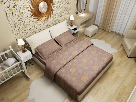 Idee de amplasare a mobilei intr-un dormitor mic