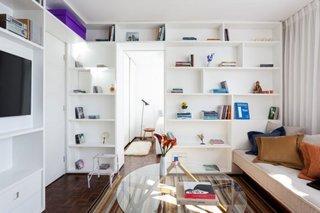 Idee de delimitare a dormitorului de living in garsoniera