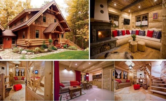 Amenajare cabana din lemn